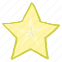 food, fresh, fruit, healthy, star icon