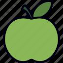 apple, fruit, green