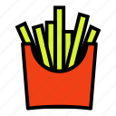 chips, fries, portion icon