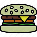 fast, food, hamburger