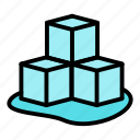 cube, cubes, ice icon
