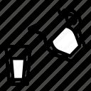 glass, milk