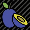 plum, plums icon