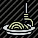 pasta, spaghetti, noodles