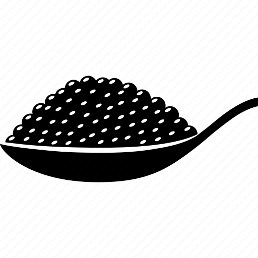Beluga, black, caviar, eggs, fish, roe, sturgeon icon - Download on Iconfinder