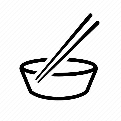 bowl, bowl and chopsticks, chopsticks, dinner, feed, food, supper icon
