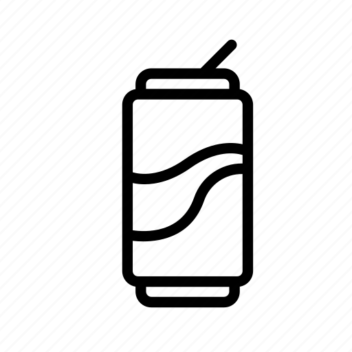 can, can of soda, cola, drink, soda icon