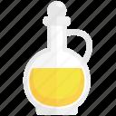 bottle, carafe, food, glass, ingredient, oil, olive