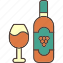 alcohol, drink, drinking, grapes, red, rose, wine icon