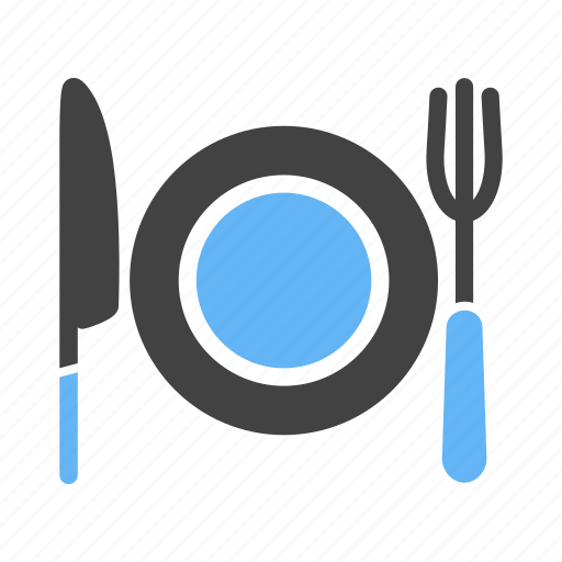 cutlery, food, fork, knife, meal, plate, spoon icon