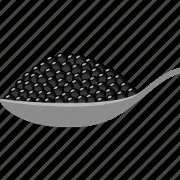 beluga, black, caviar, eggs, fish, roe, sturgeon icon
