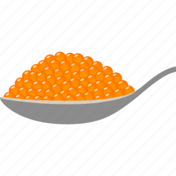 beluga, caviar, eggs, fish, orange, roe, salmon icon