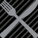 eat, eating, fork, knife, restaurant, silverware, utensils icon