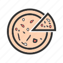 cheese, fast food, food, italian, pizza, slice, snack icon
