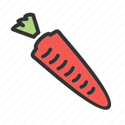carrot, food, fruit, healthy, natural, organic, vegetable icon