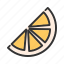 food, fruits, healthy, juicy, orange, sliced, tropical icon