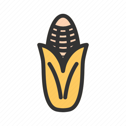 corn, food, healthy, maize, nutrition, ripe, vegetable icon