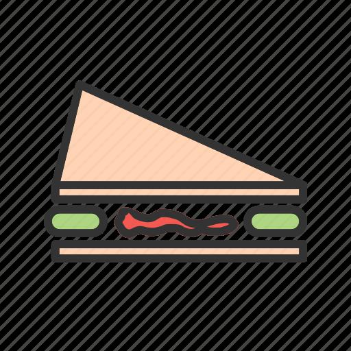 bread, breakfast, food, meal, sandwich, slice, snack icon