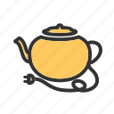 breakfast, coffee, cook, hot, kitchenware, pot, tea kettle icon