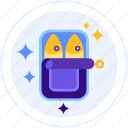 canned, fish, food icon