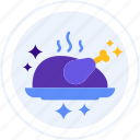 chicken, food, roasted icon