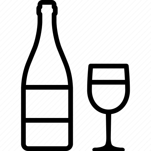 alcohol, bar, bottle, champagne, glass, tasting, wine icon