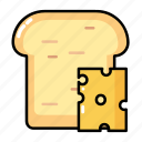 cheese, food, gastronomy, meal, toast icon