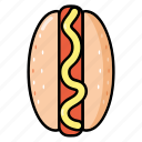 cooking, fast food, food, hot dog, meal icon