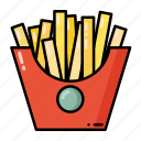 fast food, food, french, fries, meal icon