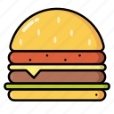 cheeseburger, fast food, food, hamburger, meal icon