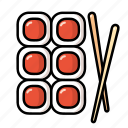 cooking, food, japanese, meal, restaurant, sushi icon