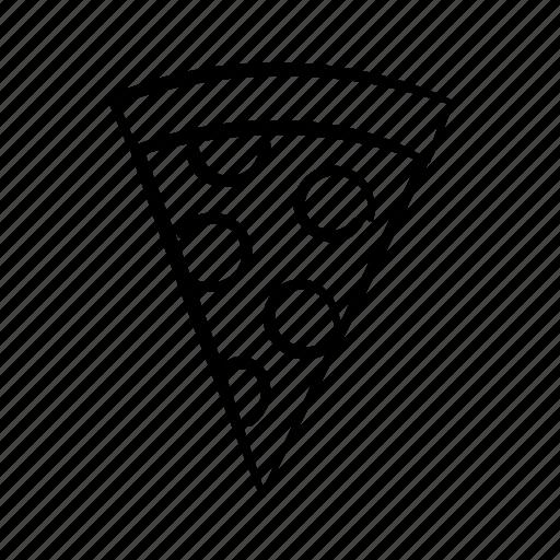 food, italian food, new york pizza, pepperoni, pizza, pizza slice, slice of pizza icon