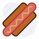 fast food, hot dog, saussage, wiener icon