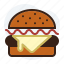 burguer, fast food, hamburguer, junk food icon