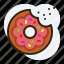 cholesterol, donut, junk food, sweet bund icon
