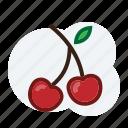 cherry, fruit icon