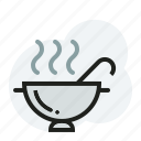 bowl, casserole, hot, soup icon
