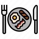 breakfast, meal icon