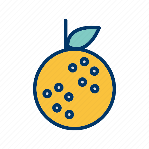 fruit, lemon, lime, orange icon
