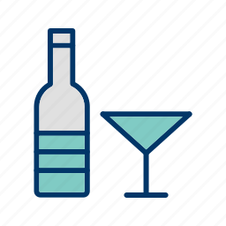 alcohol, beer, bottle, champagne, cocktail, glass, wine icon