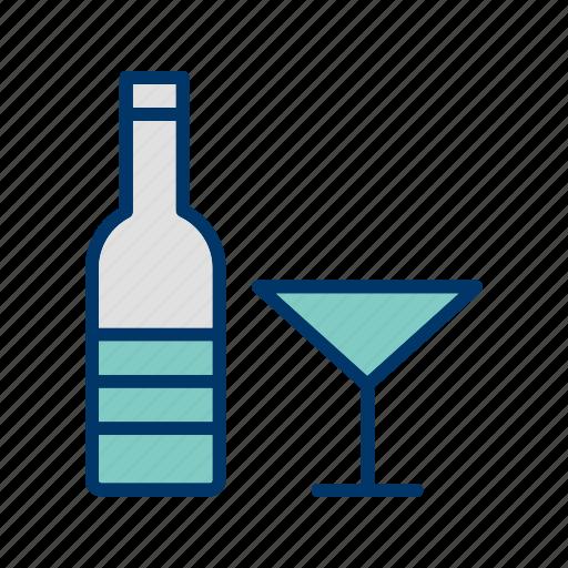 bottle, champagne, wine icon