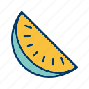 food, fruit, slice, watermelon icon