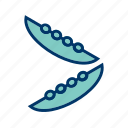 beans, green, peas icon
