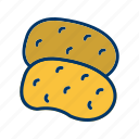 potatoes, vegetable, potato icon