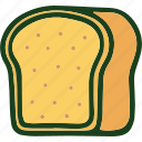 bread, brown bread, food icon