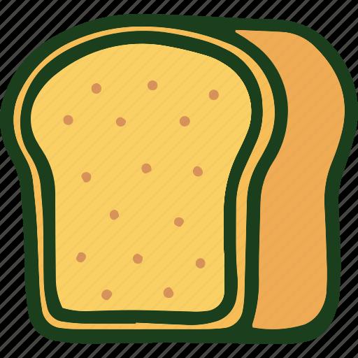 bread, brown bread, food icon