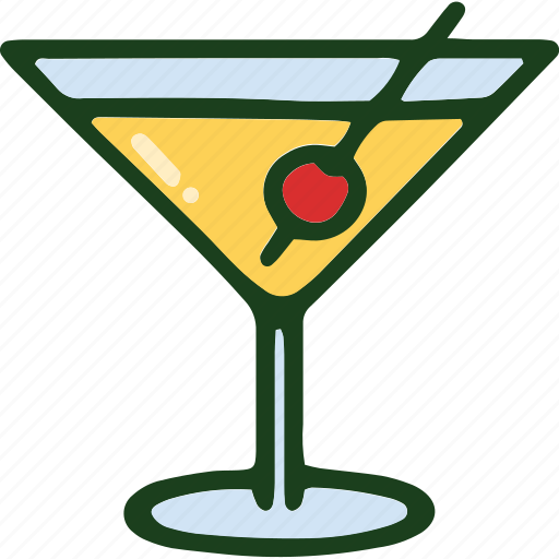 beverage, cocktail, food icon