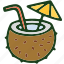 beverage, coconut, drink, food icon
