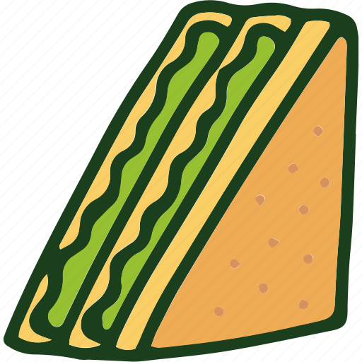 bread, food, salad, sandwich icon