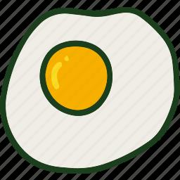 egg, food, fried, omelette icon